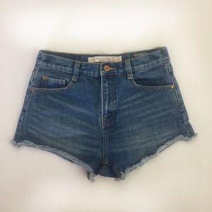 Zara Highwasted Jeans Shorts Size 4